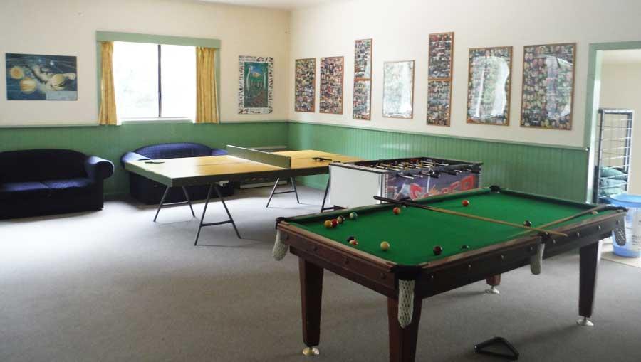 Games Room at Camp Rumbug
